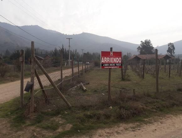 ARRIENDA PARCELA CON CASA, VIÑA PELVIN, PEÑAFLOR