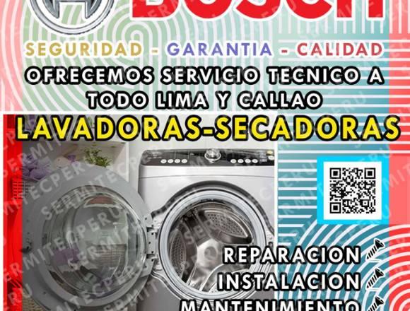 Servicio técnico de lavadoras Bosch> en Chorrillos