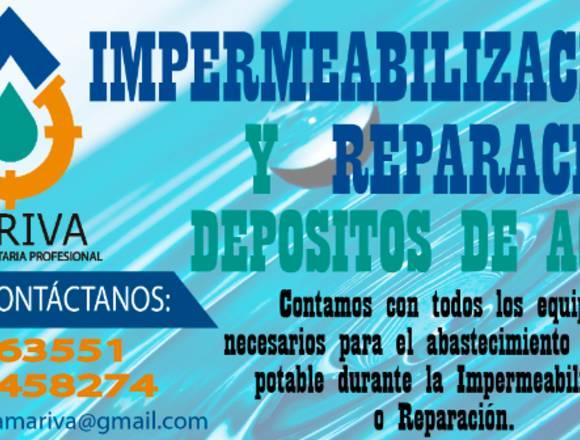Reparación e Impermeabilización Depositos de agua