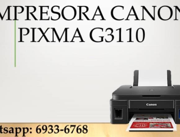canon g3110 con wifi y tintas