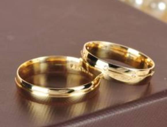 Alianças de ouro 18k ou prata esterlina 925.