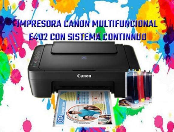 impresora canon e402 con sistsema continuo