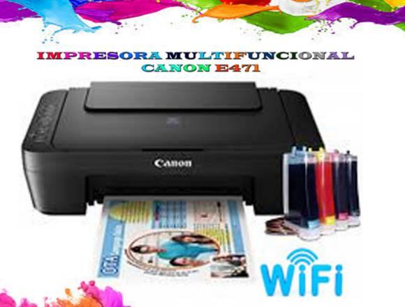 impresora canon e471 con wifi y sistema continuo