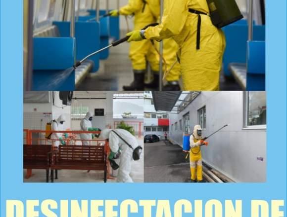 DESINFECCIÓN DE AMBIENTES Y SUPERFICIES EN – LIMA