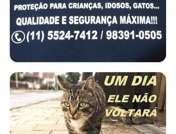 Redes de Proteção para Gatos, (11) 98391-0505 zap