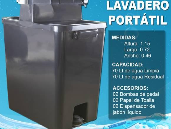 LAVAMANO PORTÁTIL DE FIBRA