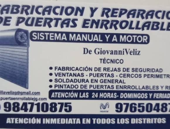 Puertas Enrollables Manual Y a Motor G&M