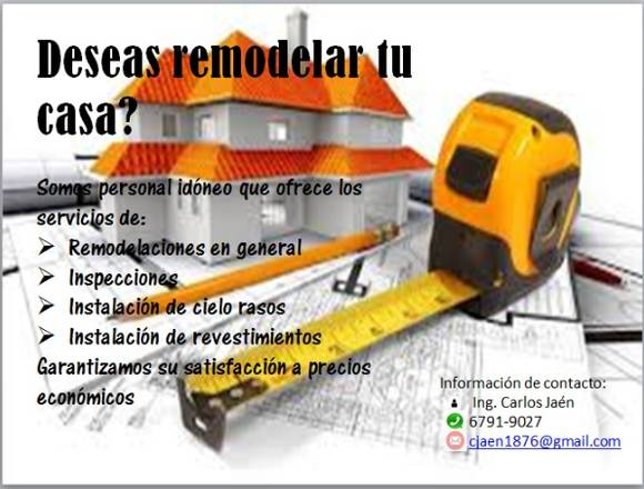 Realizamos trabajos de construcción y remodelación