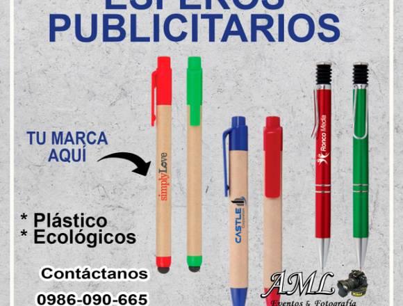 ARTÍCULOS PUBLICITARIOS, ESFEROS, BANDERAS ETC.