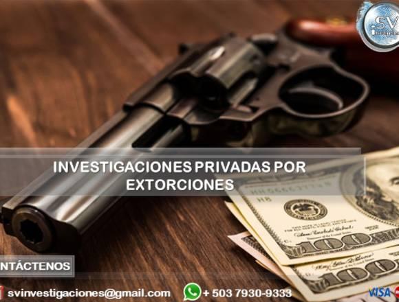 Investigación Privada por Extorsión