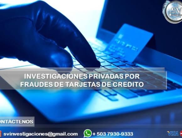 Investigación  Fraudes de Tarjetas de Crédito