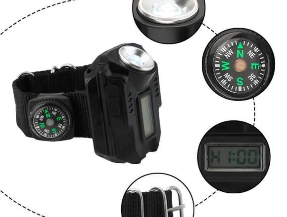 Linterna Reloj PortáTil 5W Led Recargable 1021 6-1