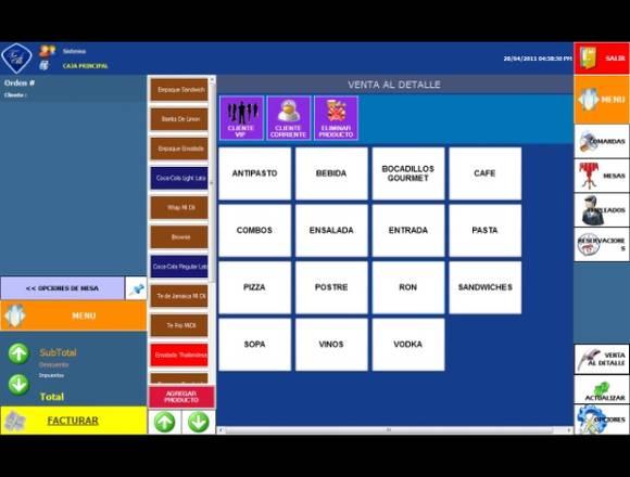 Sistema para Bares y Restaurantes