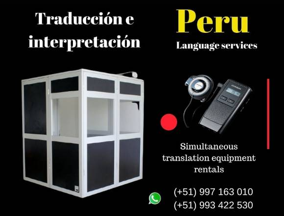 🥇 Peru simultaneous interpreting services rentals
