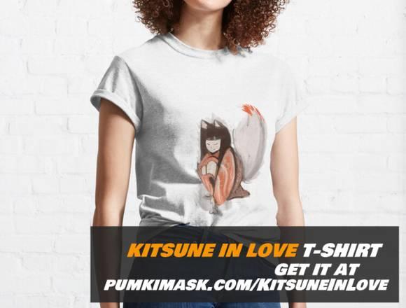 Kitsune in love Classic T-Shirt