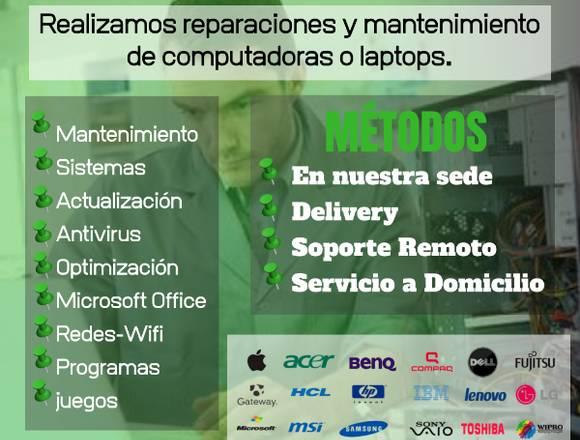 Reparación-Mantenimiento de Computadoras y Laptops