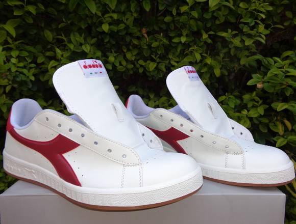 Zapatillas Diadora Casual Game P Blancas/Rojo TOP