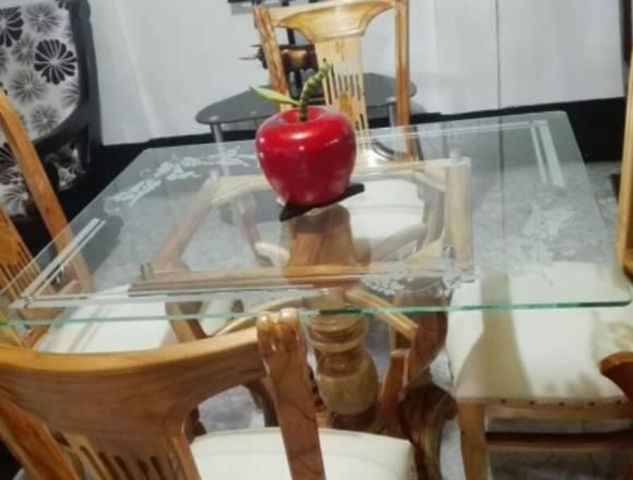 Vidrio comedor decoración samblastig