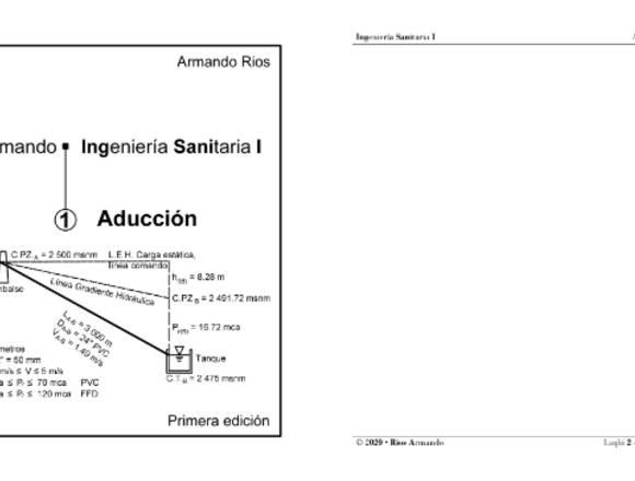 Ingeniería Sanitaria I - Aducción