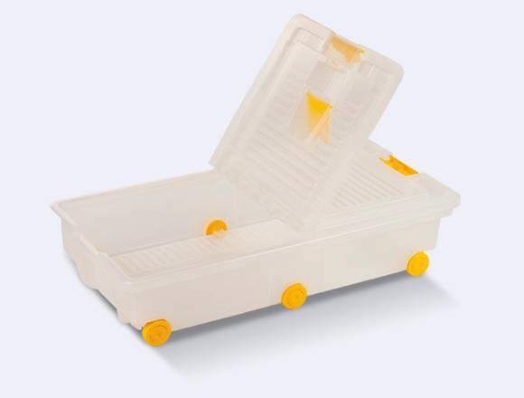 Caja Organizador Plastico Ruedas Cama  30 Litros