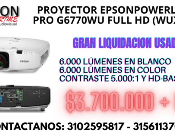 VIDEO PROYECTOR EPSON POWERLITE PRO G6770WU FULLHD