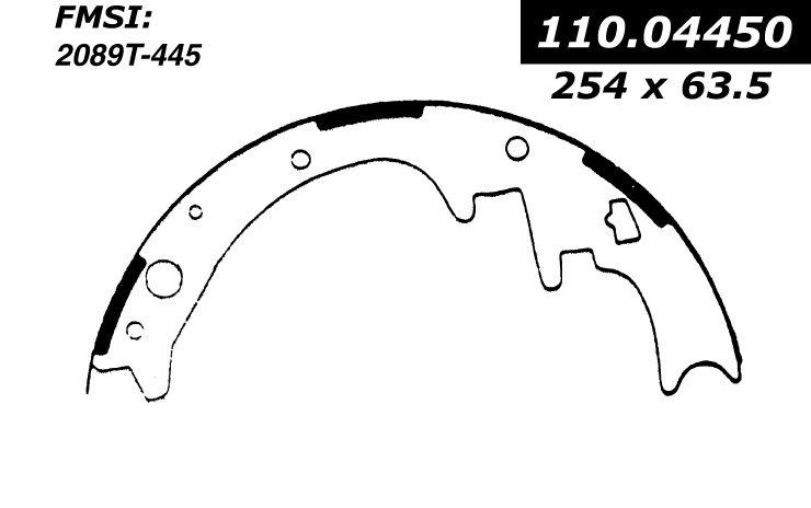 1989 dodge b150 drum brake shoe