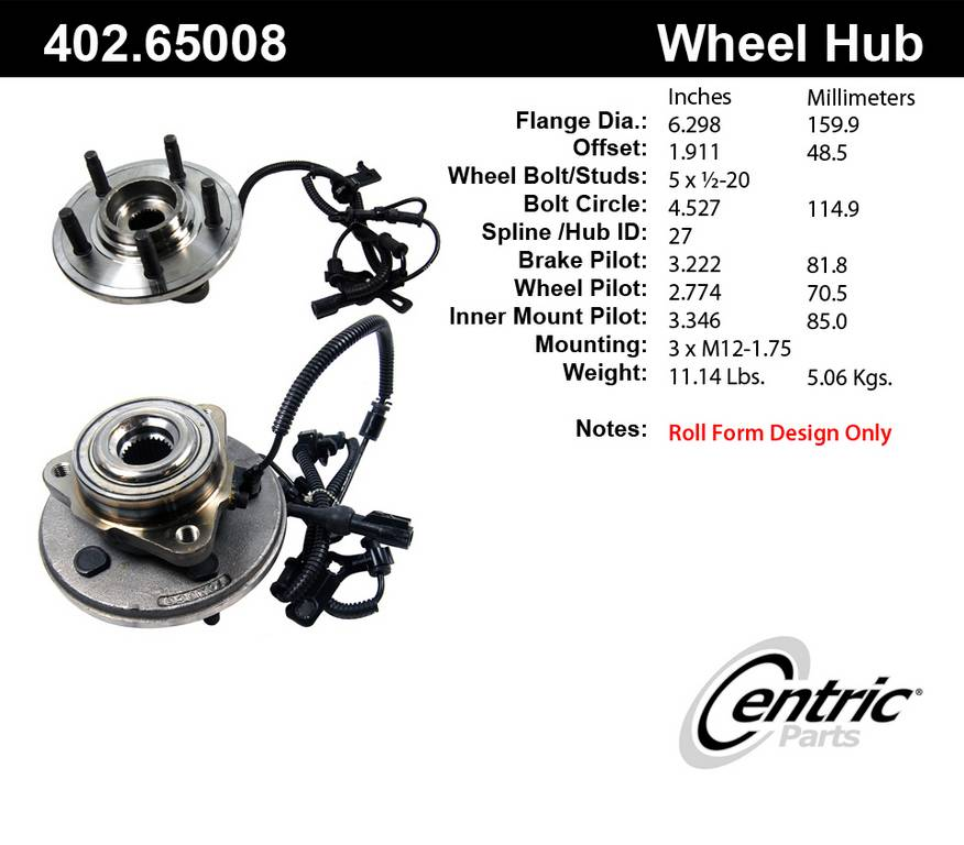 2006 ford explorer axle bearing and hub assembly