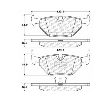 2000 BMW Z3 Disc Brake Pad CENTRIC PARTS 102.03960