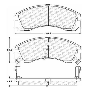 2000 Mitsubishi Galant Disc Brake Pad CENTRIC PARTS 102.05300