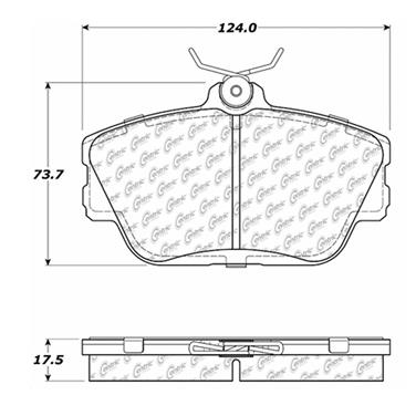 1995 Lincoln Continental Disc Brake Pad CENTRIC PARTS 102.05980