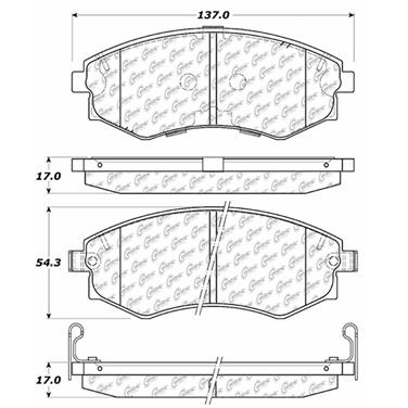 2000 Hyundai Elantra Disc Brake Pad CENTRIC PARTS 102.07000