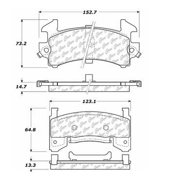 1990 Pontiac Firebird Disc Brake Pad CENTRIC PARTS 103.01540