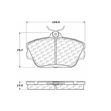 1995 Lincoln Continental Disc Brake Pad CENTRIC PARTS 103.05980