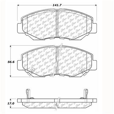 2005 Honda Accord Disc Brake Pad CENTRIC PARTS 103.09140