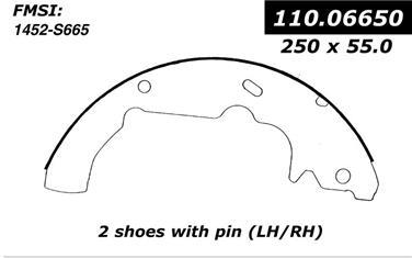1993 Mercury Villager Drum Brake Shoe CENTRIC PARTS 110.06650