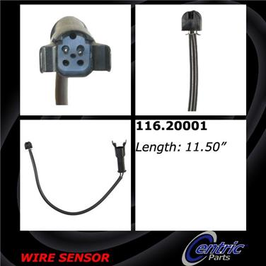 1994 Jaguar XJ12 Disc Brake Pad Wear Sensor CENTRIC PARTS 116.20001