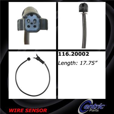 1994 Jaguar XJ12 Disc Brake Pad Wear Sensor CENTRIC PARTS 116.20002