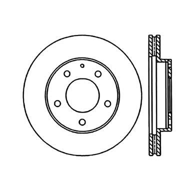 1997 Mazda 626 Disc Brake Rotor CENTRIC PARTS 120.45048