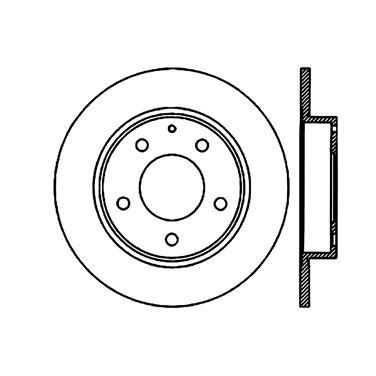 1997 Mazda 626 Disc Brake Rotor CENTRIC PARTS 120.45049