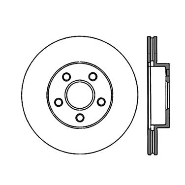 1992 Pontiac Sunbird Disc Brake Rotor CENTRIC PARTS 120.62034