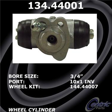 2014 Toyota Yaris Drum Brake Wheel Cylinder CENTRIC PARTS 134.44001