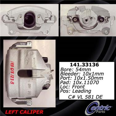 2013 Volkswagen Golf Disc Brake Caliper CENTRIC PARTS 141.33135