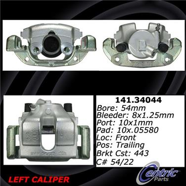 2003 BMW Z4 Disc Brake Caliper CENTRIC PARTS 141.34044
