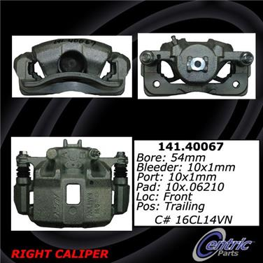 2006 Honda Civic Disc Brake Caliper CENTRIC PARTS 141.40067