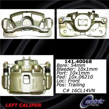 2006 Honda Civic Disc Brake Caliper CENTRIC PARTS 141.40068
