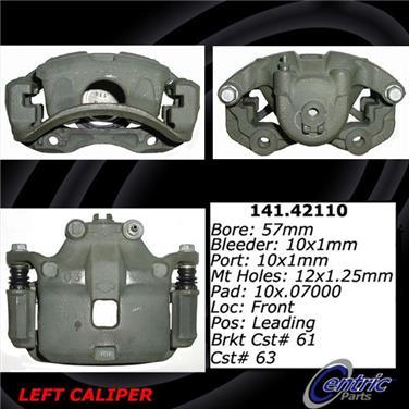 2006 Nissan Sentra Disc Brake Caliper CENTRIC PARTS 141.42110