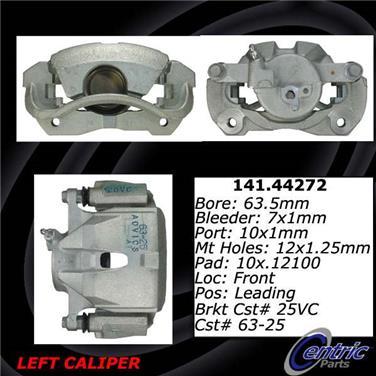 2011 Toyota RAV4 Disc Brake Caliper CENTRIC PARTS 141.44271