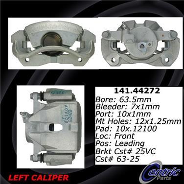 2011 Toyota RAV4 Disc Brake Caliper CENTRIC PARTS 141.44272