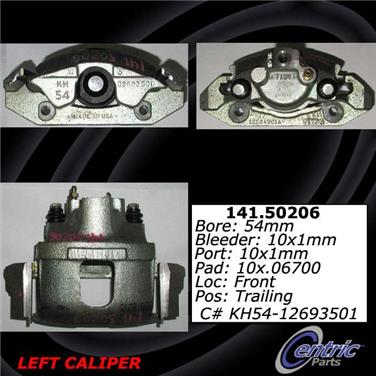 1996 Kia Sportage Disc Brake Caliper CENTRIC PARTS 141.50205