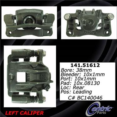 2001 Hyundai Santa Fe Disc Brake Caliper CENTRIC PARTS 141.51611